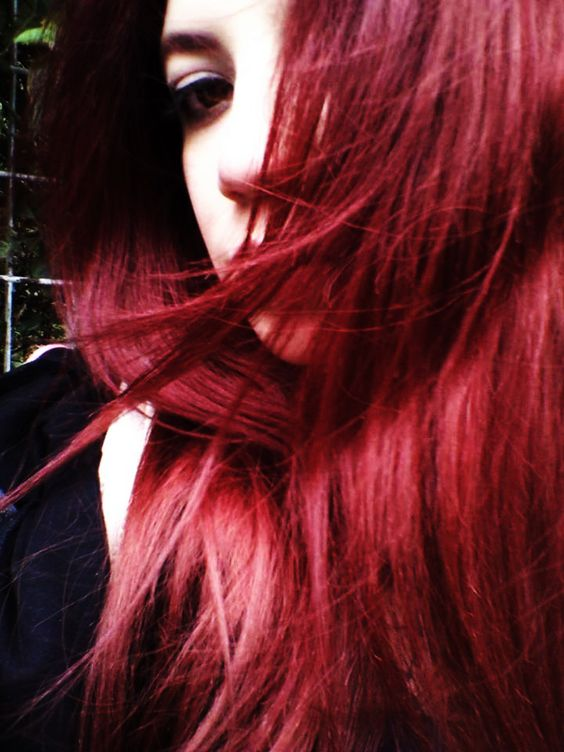 Red hair in the wind