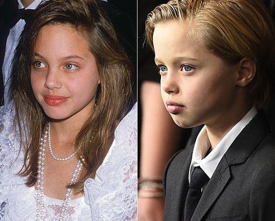 Angelina Jolie e Shiloh (Foto: Getty Images e AFP/Agências)