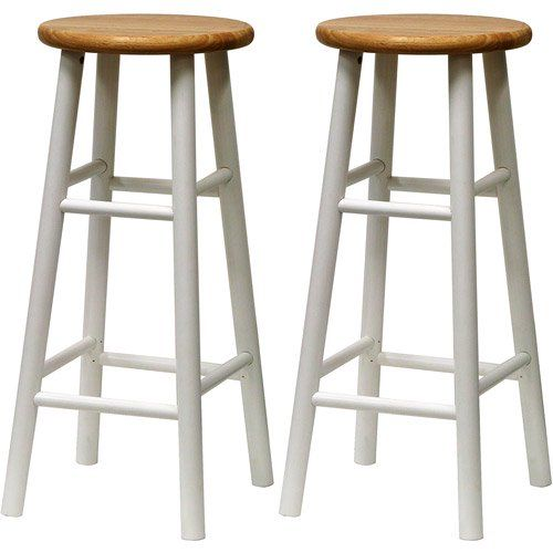 Winsome Wood Tabby 30 Beveled Seat Stools 2pc Multiple Finishes Walmart Com Wooden Bar Stools Bar Stools Counter Bar Stools 30 wooden bar stool