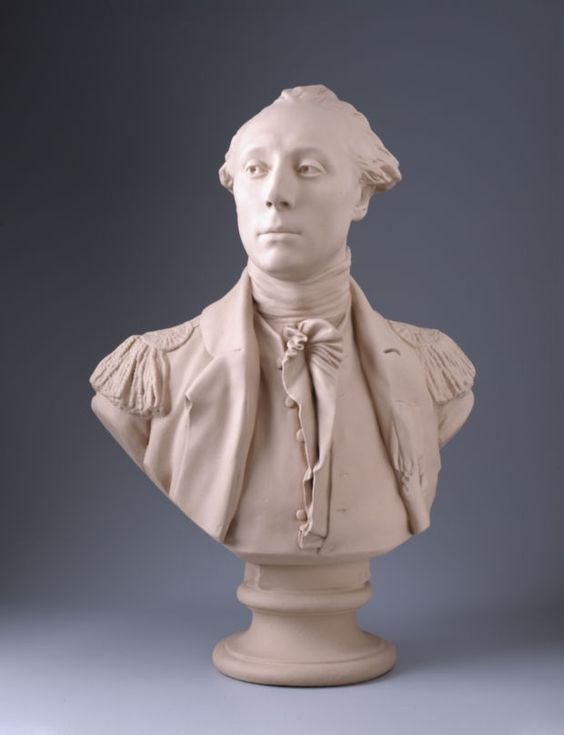Copy of a bust lafayette created by jean antoine houdon