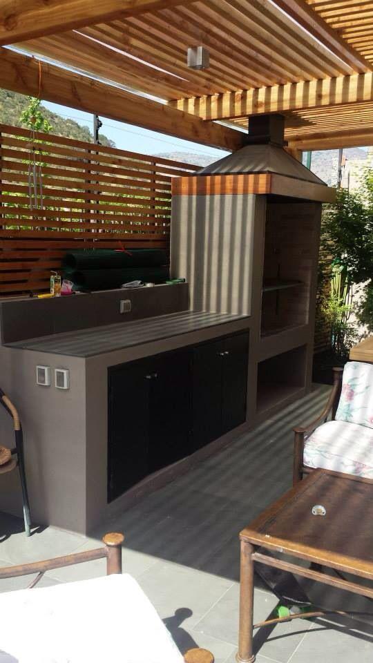 Parrilla para el hogar pinterest cocinas al aire for Quincho cocina comedor