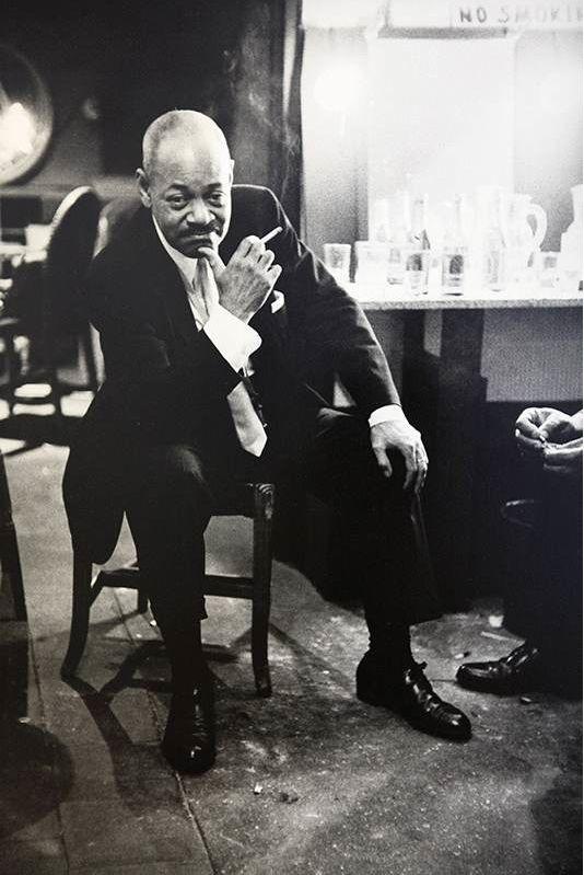 Jim Marshall. Jazz Tenor Saxophonist Coleman Hawkins Backstage at the Village Gate in New York City      c.1963.
