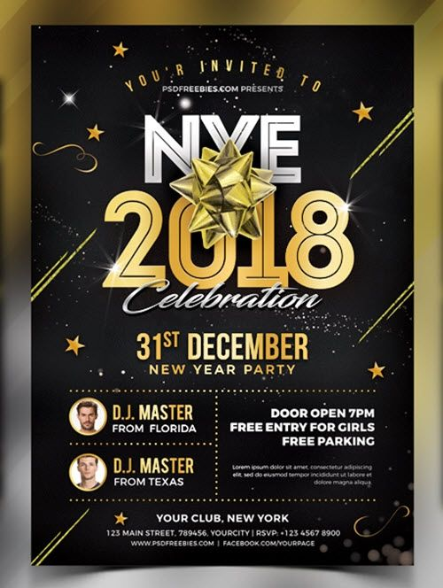 Free New Years Eve Party Flyer Templates New Year S Eve Flyer New Years Eve Party New Years Party
