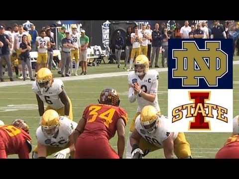 Iowa State Vs Notre Dame Football Bowl Game 12 28 2019 Youtube Notre Dame Football Football Bowl Games Bowl Game
