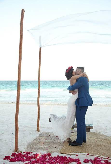Destination weddings  groom in blue tux?