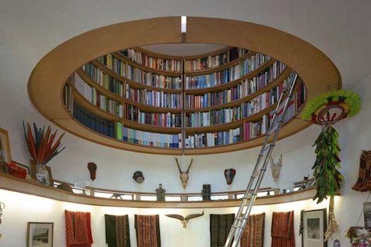 Circular bookshelf.  Could it get anymore hip?