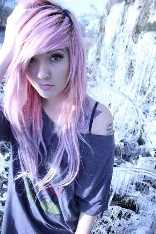 pink purple hair