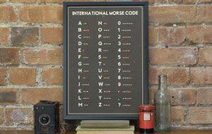 Morse Code Screenprint