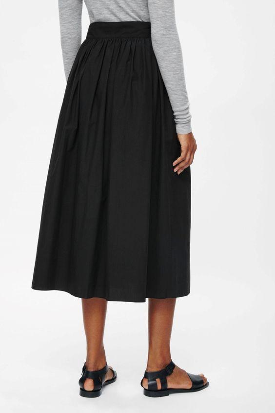 Gathered cotton skirt