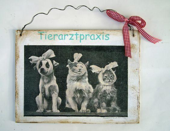 Türschild für die Tierarztpraxis oder den Heilpraktiker für Tiere     Das Schild kann mit dem jeweiligen Namen der Praxis versehen werden.    Ideal...