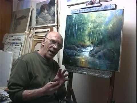 """How to paint"" waterfall reflections FINAL  Part 15/15 - Como pintar reflecciones de una cascada"