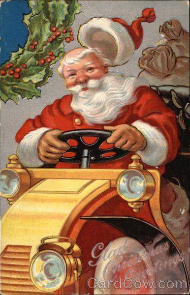 Glad Christmas Greetings with Santa Santa Claus Series 2