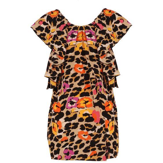 Leopard Print Ruffle Dress by Dress Gallery
