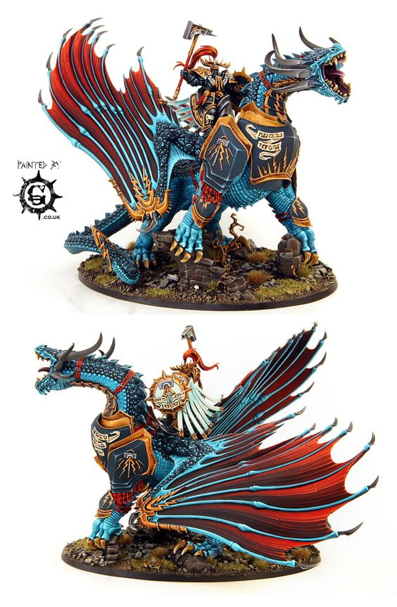 Lord-Celestant on Stardrake - Painted By-g