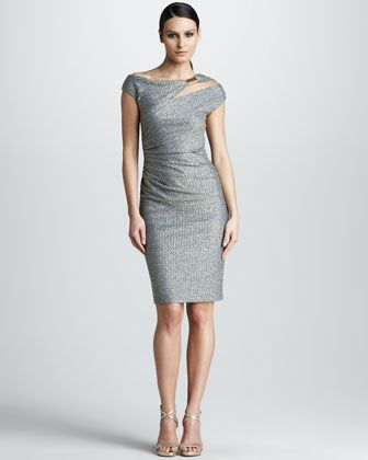 Asymmetric Cocktail Dress by David Meister at Neiman Marcus.