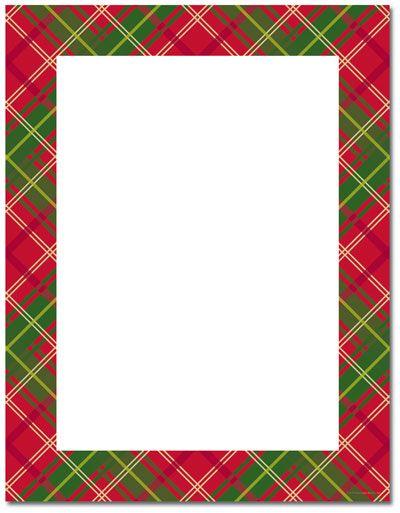Letterhead, Christmas stationery and Plaid on Pinterest