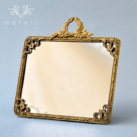 gold classical mirror