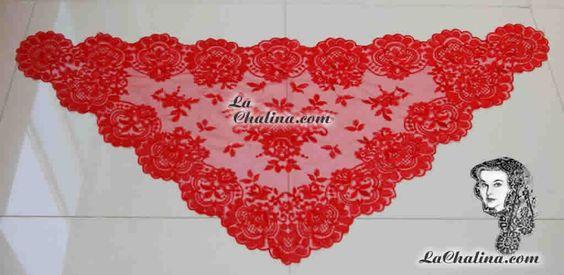 Chalina Italiana Flor de Liz Color Roja Preciosa