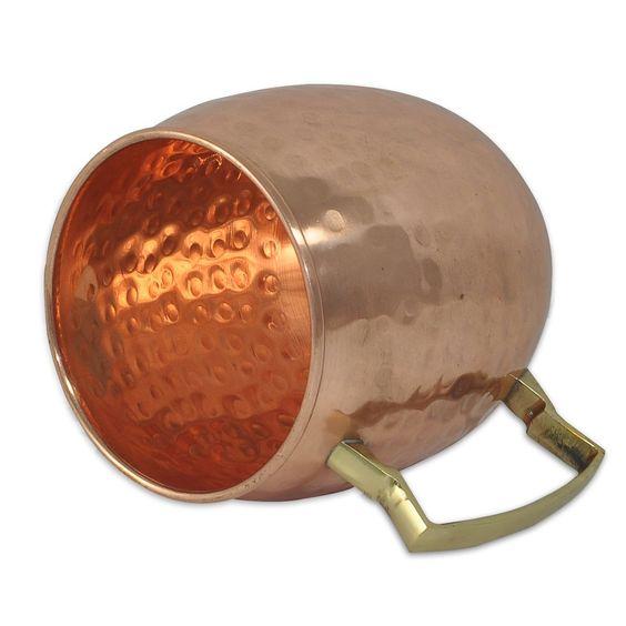 Amazon.com | DakshCraft ® Copper Hammered Mugs (Capacity - 16.90 oz per mug) With FREE Copper Straw & Pure Copper Shot Wine Glasses (Capacity - 2 oz per shot glasses) Set of 4: Glassware & Drinkware