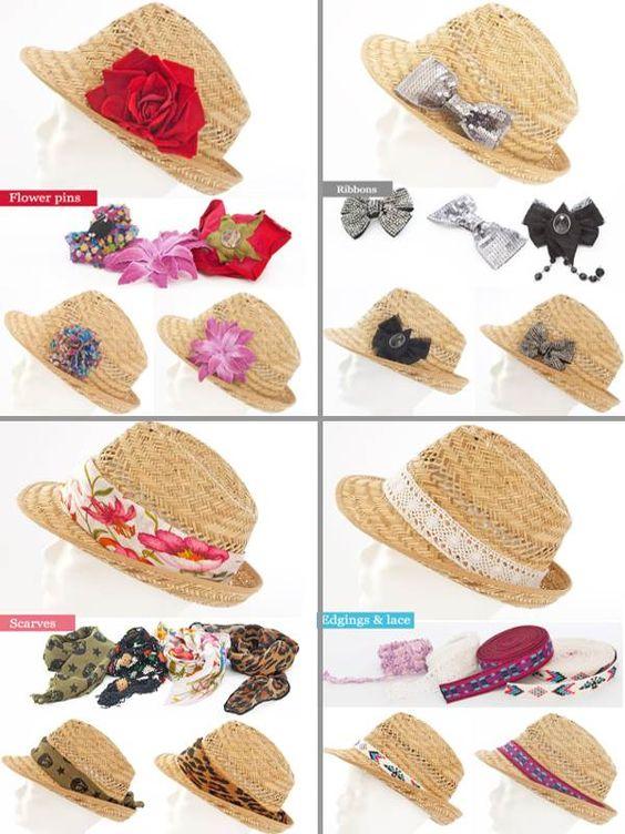 Diy fashion idea, straw hat