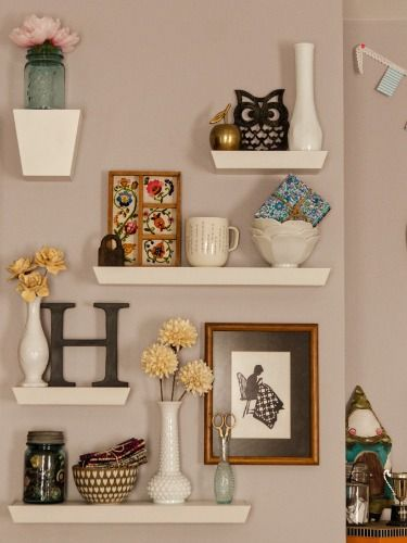 9 different ways to style floating shelves good Decorative wall shelves for bedroom
