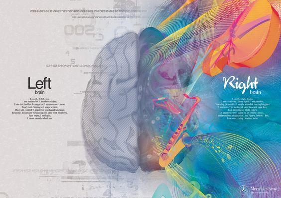 Amazing Left Brain / Right Brain Illustrations. #art #illustration #advertising