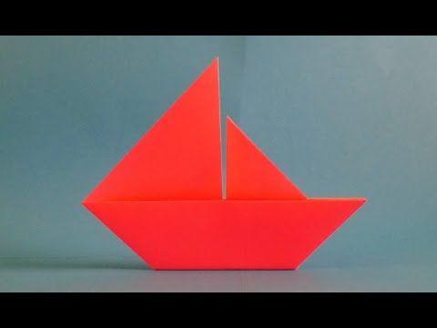 Como Fazer Origami Barco De Papel Vela Para Iniciantes Youtube