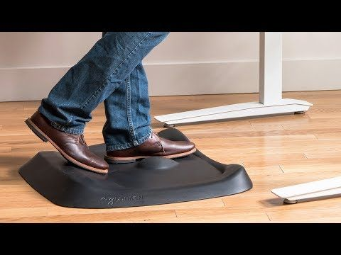This Cushiony Standing Desk Mat Has A Variable Surface With Bumps Lips And Curves To Keep Feet And Legs Busy Throughout The Day The Small Desk Mat Athletic Gear Desk