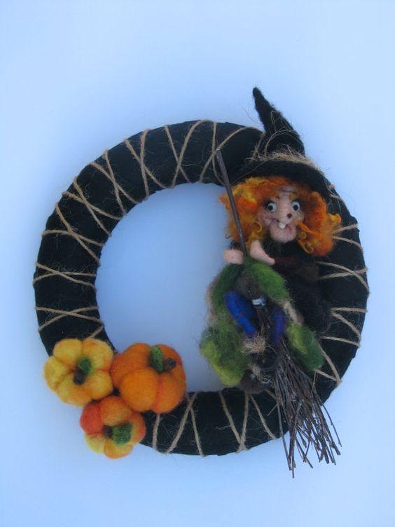 Halloween Nadel Filz Waldorf inspiriert Wreat von Made4uByMagic