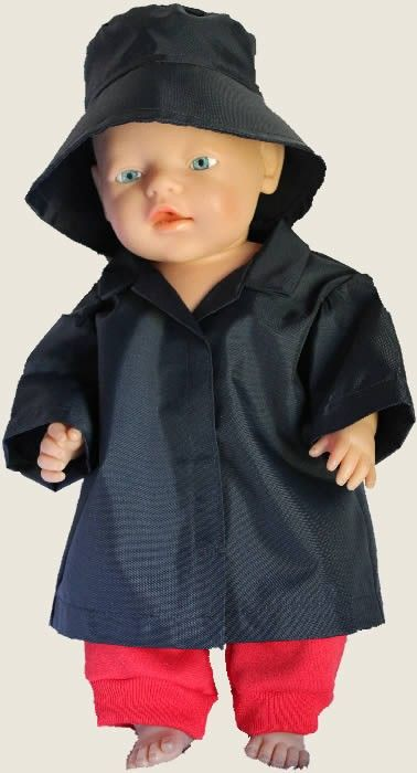 Raincoat and Hat - to Fit Baby Born (www.notinshops.com.au) $20.00