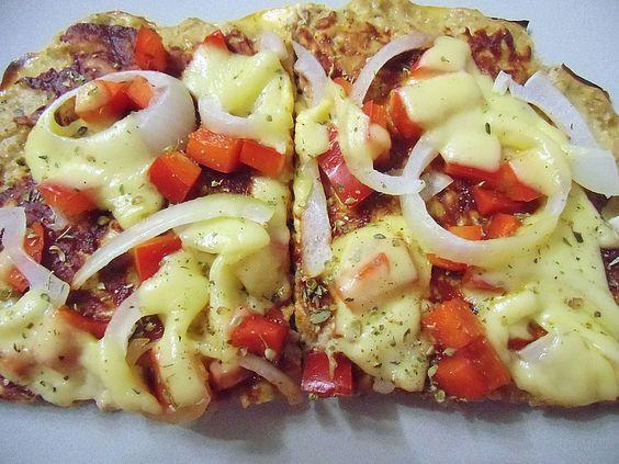 Low Carb Rezepte: Low Carb Pizza (Thunfisch, Eier, Hüttenkäse)