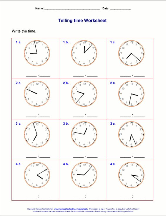 Printables Homeschoolmath.net Free Worksheets the worksheets below include problems both for telling time from a list of free printable third grade including to five minutes and minute ran