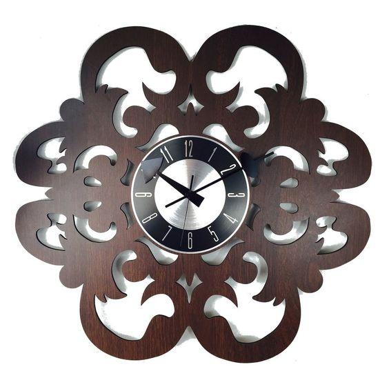 Mid Century Decor Fleur-De-Lis Wall Clock - 122147
