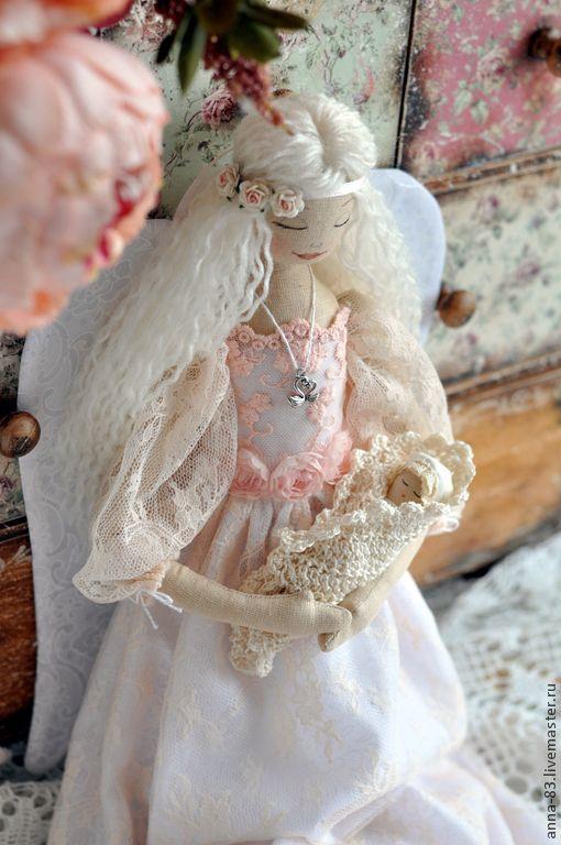 Купить Все мамы - Ангелы! - бежевый, ангел, оберег, кукла-оберег, материнство, лён, хлопок