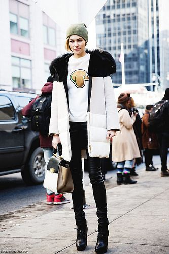 New_York_Fashion_Week-Street_Style-Fall_Winter-2015-Jessica_Hart-Model- by collagevintageblog, via Flickr