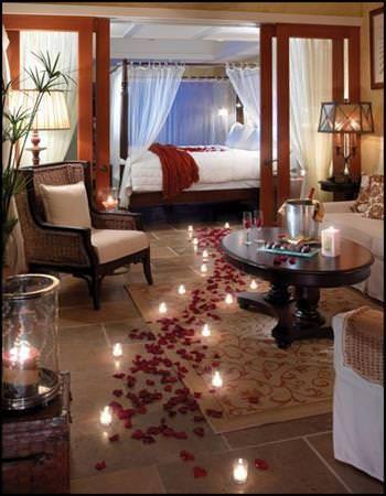 idees pour chambre a coucher romantique
