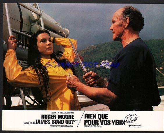 james #bond for your eyes only carole bouquet george leech orig french photo from $9.95