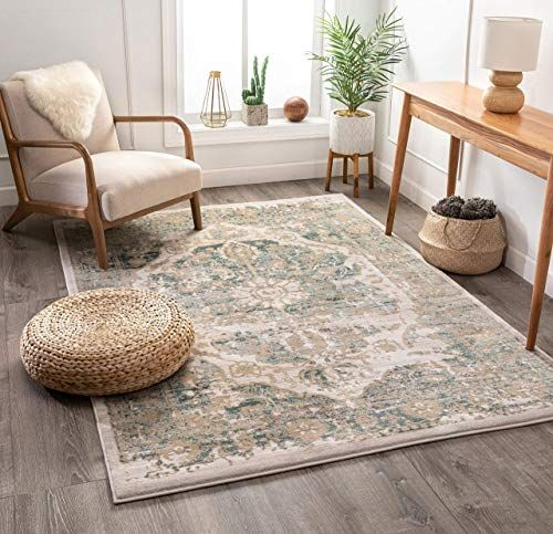 New Well Woven Millie Tribal Mint Blue Medallion Area Rug 8x11 7 10 X 10 6 Beige Modern Distressed Oriental Plush Super Soft Carpet Online In 2020 Well Woven Beige Area Rugs Soft Carpet