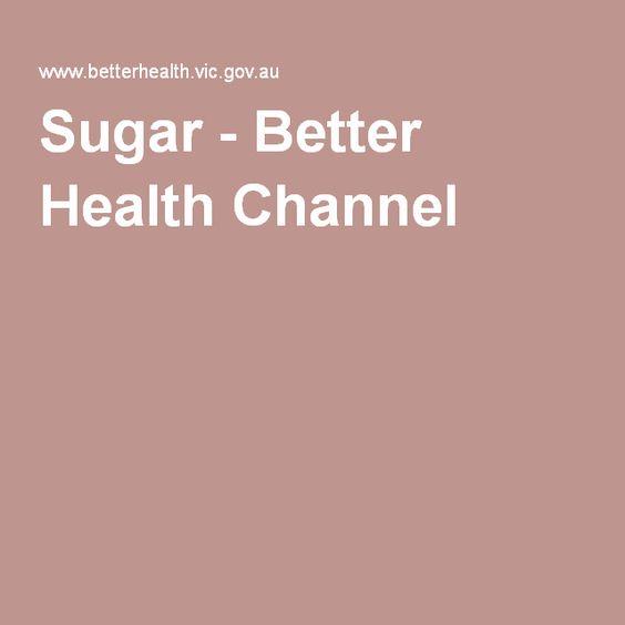 Sugar - Better Health Channel