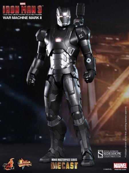 Iron Man 3 MMS Diecast Actionfigur 1/6 War Machine Mark II 30 cm