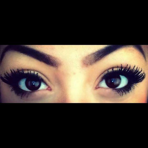 Simple & very pretty makeup for dark brown eyes ...