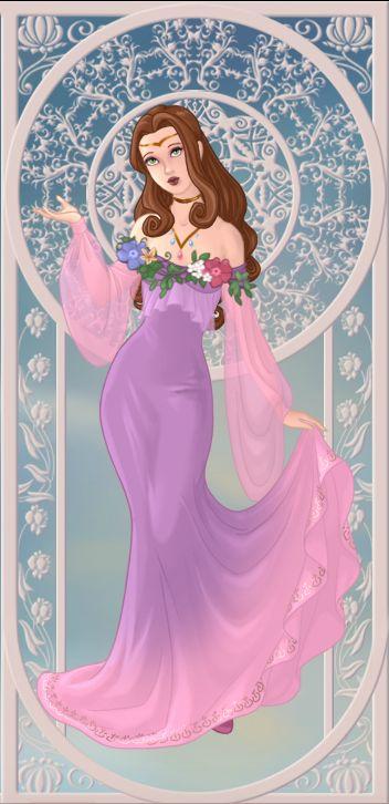 Perséphone, déesse du printemps - version printemps (on azalea's dolls):