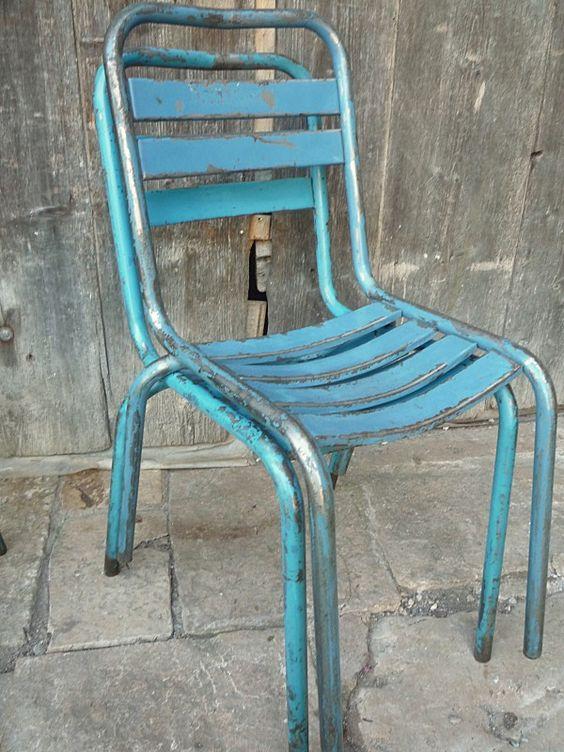 metal chaises 1950's