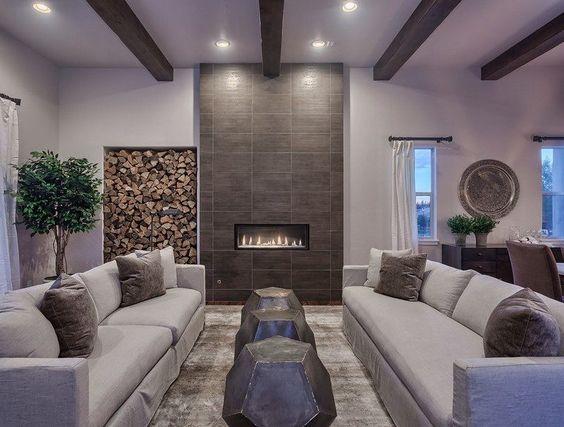rangement bois de chauffage pour l int rieur en 55 id es design et interieur. Black Bedroom Furniture Sets. Home Design Ideas