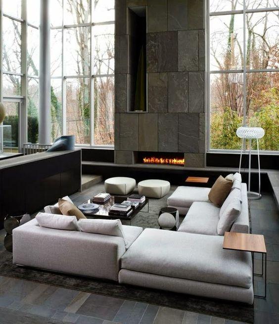 Sala grande moderna awesome interiors pinterest for Sala grande