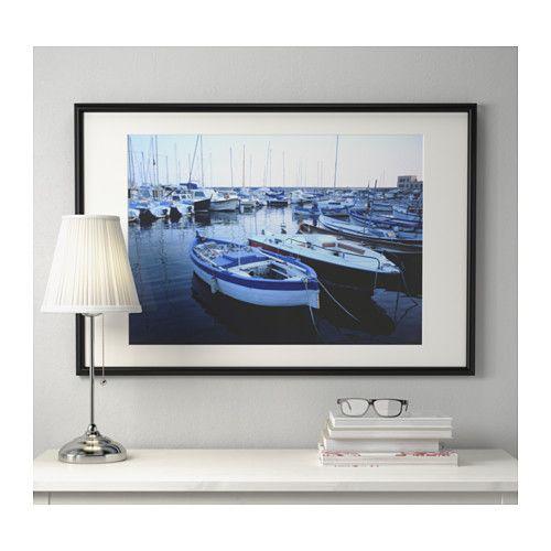 Marietorp r m ierna frames black and fotografie - Protector escritorio ikea ...