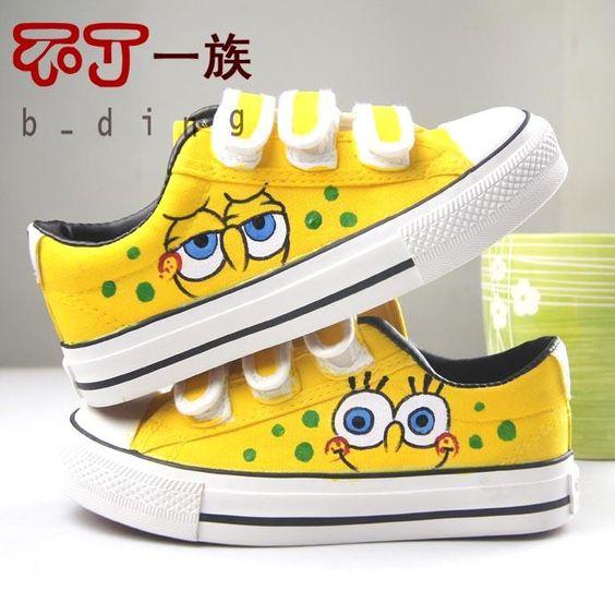 spongebob shoes omg i spongebob