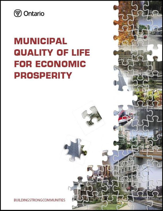 Municipal Quality of Life for Economic Prosperity cover page - municipal court clerk sample resume