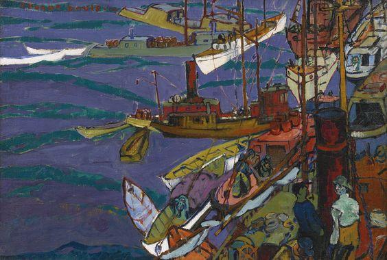 davis, stuart harbor scene | cityscape | sotheby's n09484lot8z4wcen: