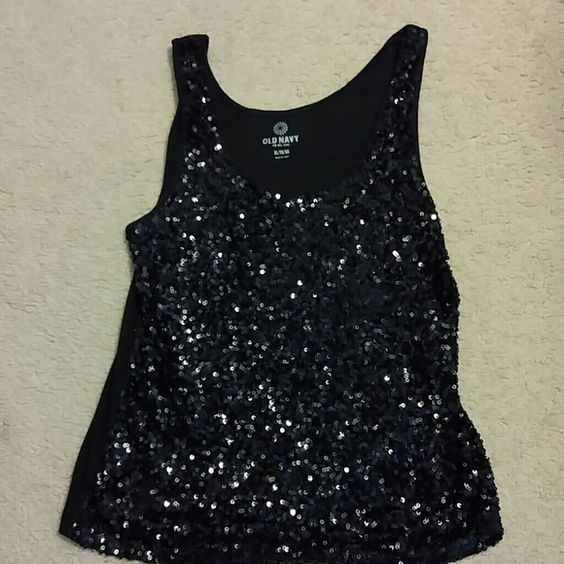Old Navy tank top Old navy sequine tank top size XL back side is plain black Old Navy Tops Tank Tops